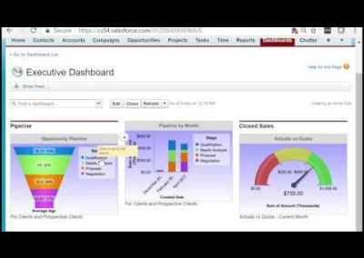 Salesforce for Enterprises – Reporting Dashboard Pt. 4